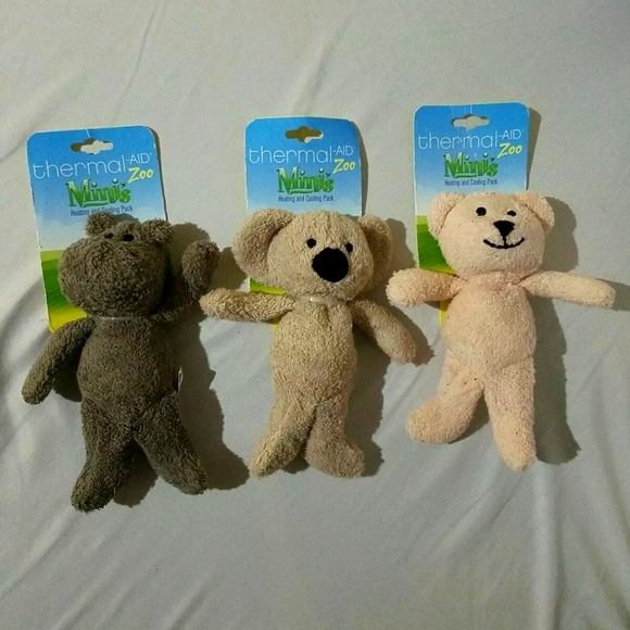Set of 3 Thermal Aid Zoo Mini Heating Cooling Pack